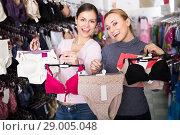 Women shopping uplifts and panties. Стоковое фото, фотограф Яков Филимонов / Фотобанк Лори