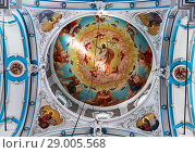 Купить «Dome of the Resurrection Cathedral of the Newjerusalem Monastery, Istra, Moscow Region, Russia», фото № 29005568, снято 27 августа 2018 г. (c) Наталья Волкова / Фотобанк Лори