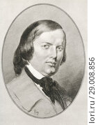 Купить «Robert Schumann, 1810-1856. German composer and an influential music critic. Illustration by Gordon Ross, American artist and illustrator (1873-1946), from Living Biographies of Great Composers.», фото № 29008856, снято 22 октября 2019 г. (c) age Fotostock / Фотобанк Лори