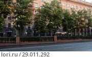 Купить «Lenin Street in central part of Minsk, Belarus», видеоролик № 29011292, снято 7 июля 2017 г. (c) BestPhotoStudio / Фотобанк Лори