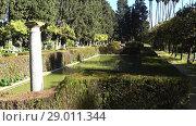 Купить «Alcazar Gardens in Seville, Andalusia, Spain», видеоролик № 29011344, снято 16 марта 2017 г. (c) BestPhotoStudio / Фотобанк Лори