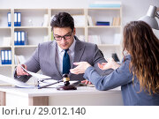 Купить «Lawyer discussing legal case with client», фото № 29012140, снято 11 марта 2017 г. (c) Elnur / Фотобанк Лори