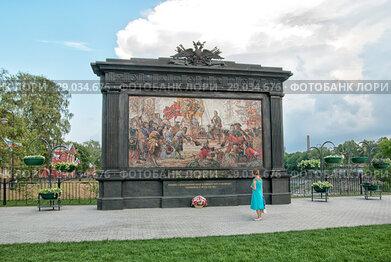 Памятный знак с мозаичным воспроизведением картины Василия Нестеренко «Триумф Российского флота». Кронштадт