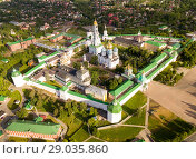 Купить «Panoramic aerial view of Trinity-Sergius Lavra in Sergiev Posad», фото № 29035860, снято 9 июня 2018 г. (c) Яков Филимонов / Фотобанк Лори