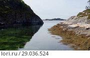 Купить «Norwegian fjord in sunny day, Averoy, Norway», видеоролик № 29036524, снято 1 сентября 2018 г. (c) Некрасов Андрей / Фотобанк Лори