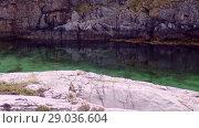 Купить «Norwegian fjord in sunny day, Averoy, Norway», видеоролик № 29036604, снято 1 сентября 2018 г. (c) Некрасов Андрей / Фотобанк Лори