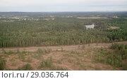 Купить «Aerial view on Norway under clouds», видеоролик № 29036764, снято 1 сентября 2018 г. (c) Некрасов Андрей / Фотобанк Лори
