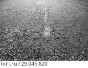 Купить «Old asphalted highway», фото № 29045820, снято 3 мая 2013 г. (c) Юрий Бизгаймер / Фотобанк Лори