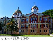 Купить «Novy Afonsky for male Monastery in Abkhazia», фото № 29048540, снято 3 июня 2018 г. (c) Володина Ольга / Фотобанк Лори