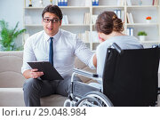 Купить «Patient visiting psychotherapist to deal with consequences of tr», фото № 29048984, снято 12 апреля 2017 г. (c) Elnur / Фотобанк Лори