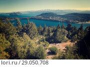 Купить «Lago Nahuel Huapi and Cerro Campanario», фото № 29050708, снято 6 февраля 2017 г. (c) Яков Филимонов / Фотобанк Лори