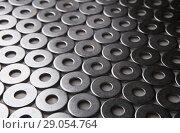 Купить «Metal chrome plated shining washers», фото № 29054764, снято 2 ноября 2014 г. (c) Юрий Бизгаймер / Фотобанк Лори