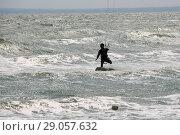 Купить «Кайтер в море», эксклюзивное фото № 29057632, снято 23 августа 2018 г. (c) Щеголева Ольга / Фотобанк Лори