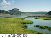 Купить «Twisting duct between Brown Lakes, Rio Grande National Forest,  Colorado, US», фото № 29057836, снято 30 января 2014 г. (c) Ирина Кожемякина / Фотобанк Лори