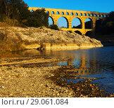 Купить «The Pont-du-Gard is famous bridge of France», фото № 29061084, снято 8 декабря 2017 г. (c) Яков Филимонов / Фотобанк Лори
