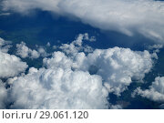 Купить «see of a cumulus clouds from above», фото № 29061120, снято 6 июня 2018 г. (c) Володина Ольга / Фотобанк Лори
