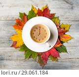 Купить «Autumn coffee time», фото № 29061184, снято 16 сентября 2019 г. (c) Сергей Петерман / Фотобанк Лори