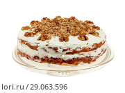 Купить «Delicious cake with apple and whipped cream filling», фото № 29063596, снято 18 февраля 2019 г. (c) Игорь Бородин / Фотобанк Лори