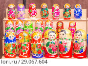 Купить «Russian souvenirs. Nested dolls. Samara.», фото № 29067604, снято 27 мая 2018 г. (c) Акиньшин Владимир / Фотобанк Лори