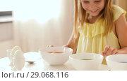 Купить «girl coloring easter eggs by liquid dye at home», видеоролик № 29068116, снято 10 августа 2018 г. (c) Syda Productions / Фотобанк Лори
