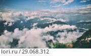 beautiful views of Caucasus Mountains from height. Стоковое фото, фотограф Володина Ольга / Фотобанк Лори