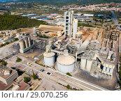 Купить «Cement production plant», фото № 29070256, снято 16 октября 2018 г. (c) Яков Филимонов / Фотобанк Лори