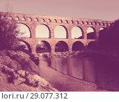 Купить «Pont du Gard in France», фото № 29077312, снято 8 декабря 2017 г. (c) Яков Филимонов / Фотобанк Лори