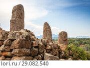 Купить «Prehistoric stone statues in Filitosa», фото № 29082540, снято 20 августа 2018 г. (c) EugeneSergeev / Фотобанк Лори