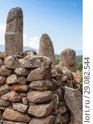 Купить «Menhirs. Prehistoric stone statues in Filitosa», фото № 29082544, снято 20 августа 2018 г. (c) EugeneSergeev / Фотобанк Лори