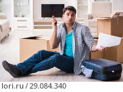 Купить «Unemployed man receiving foreclosure notice letter», фото № 29084340, снято 23 марта 2018 г. (c) Elnur / Фотобанк Лори