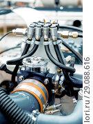 Купить «Internal combustion engine operating on gas fuel», фото № 29088616, снято 18 октября 2017 г. (c) Андрей Радченко / Фотобанк Лори
