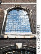 Купить «Old classic arched window perspective», фото № 29089812, снято 29 октября 2017 г. (c) EugeneSergeev / Фотобанк Лори