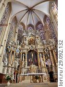 Купить «Main altar of St. Mary's Cathedral in Erfurt, Thuringia», фото № 29092132, снято 4 октября 2010 г. (c) Serg Zastavkin / Фотобанк Лори