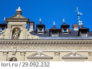 Купить «Traditional house in the historic part of Erfurt, Thuringia, Germany», фото № 29092232, снято 4 октября 2010 г. (c) Serg Zastavkin / Фотобанк Лори