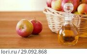 Купить «apples in basket and jug of juice on table», видеоролик № 29092868, снято 7 сентября 2018 г. (c) Syda Productions / Фотобанк Лори
