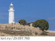 Odeon theatre and lighthouse, Paphos, Cyprus. Стоковое фото, фотограф Ivan Vdovin / age Fotostock / Фотобанк Лори