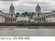 Купить «Old Royal Naval College, Greenwich, London, England, UK.», фото № 29098408, снято 19 июля 2017 г. (c) age Fotostock / Фотобанк Лори