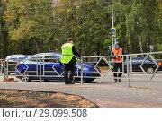 Купить «Оформление дорожно- транспортного происшествия Липецк», фото № 29099508, снято 17 сентября 2018 г. (c) Евгений Будюкин / Фотобанк Лори