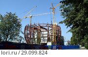 Купить «Строительство музея», фото № 29099824, снято 28 июля 2018 г. (c) Ed_Z / Фотобанк Лори