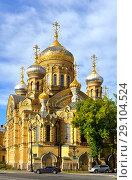 Church of Assumption of Mary (1897) in autumn, Saint Petersburg, Russia (2018 год). Редакционное фото, фотограф Валерия Попова / Фотобанк Лори