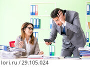 Two financial specialists working in the office. Стоковое фото, фотограф Elnur / Фотобанк Лори