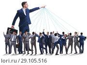 Купить «Boss employee manipulating his staff in business concept», фото № 29105516, снято 20 мая 2019 г. (c) Elnur / Фотобанк Лори