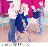 Купить «people having dancing class», фото № 29111456, снято 21 сентября 2018 г. (c) Яков Филимонов / Фотобанк Лори