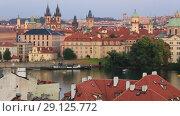 Купить «Красивый вид на Прагу», видеоролик № 29125772, снято 19 сентября 2018 г. (c) Яна Королёва / Фотобанк Лори