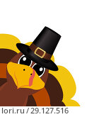 Купить «Turkey Pilgrimin on Thanksgiving Day», иллюстрация № 29127516 (c) Мастепанов Павел / Фотобанк Лори