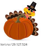 Купить «Turkey Pilgrimin on Thanksgiving Day», иллюстрация № 29127524 (c) Мастепанов Павел / Фотобанк Лори