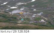 Купить «Мутновская геотермальная электростанция на Камчатке», видеоролик № 29128924, снято 25 сентября 2018 г. (c) А. А. Пирагис / Фотобанк Лори