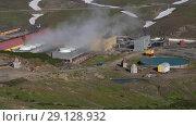 Купить «Мутновская геотермальная электростанция на Камчатке», видеоролик № 29128932, снято 25 сентября 2018 г. (c) А. А. Пирагис / Фотобанк Лори