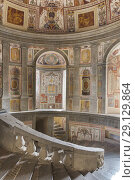Купить «Scala Regia, Villa Farnese, Villa Caprarola, Viterbo, Lazio, Italy.», фото № 29129864, снято 25 февраля 2018 г. (c) age Fotostock / Фотобанк Лори