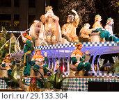 Купить «Grand parade in Barcelona», фото № 29133304, снято 5 января 2017 г. (c) Яков Филимонов / Фотобанк Лори